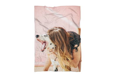 Dog Photo on Blanket