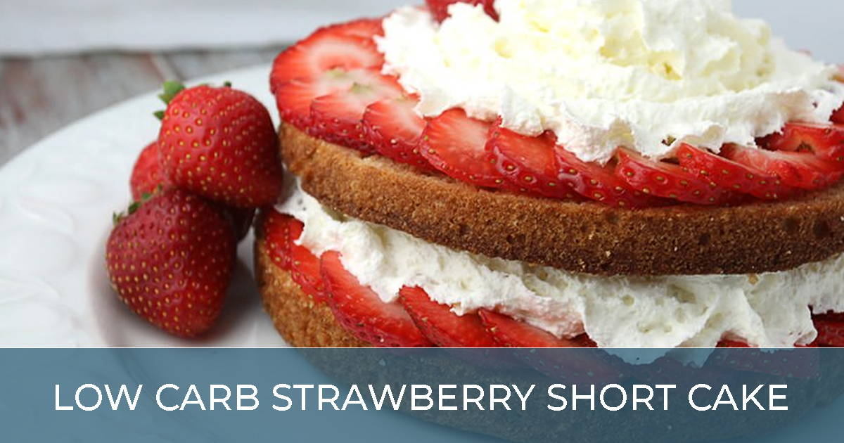 Low Carb Strawberry Short Cake
