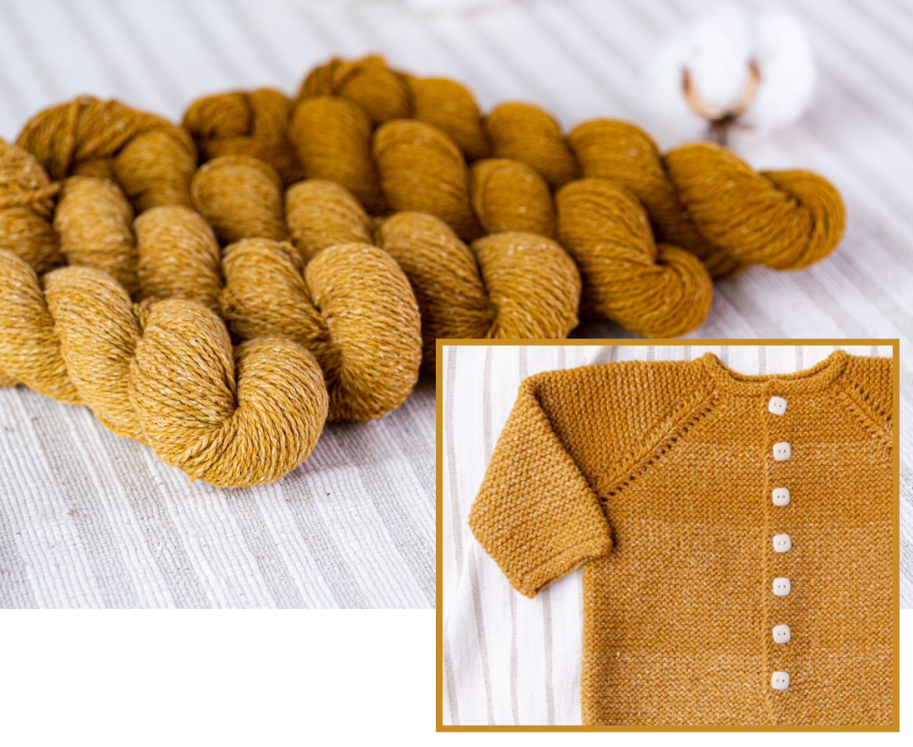 Dapple Tips | Dapple Medallion and a baby cardigan knit with tonal skeins