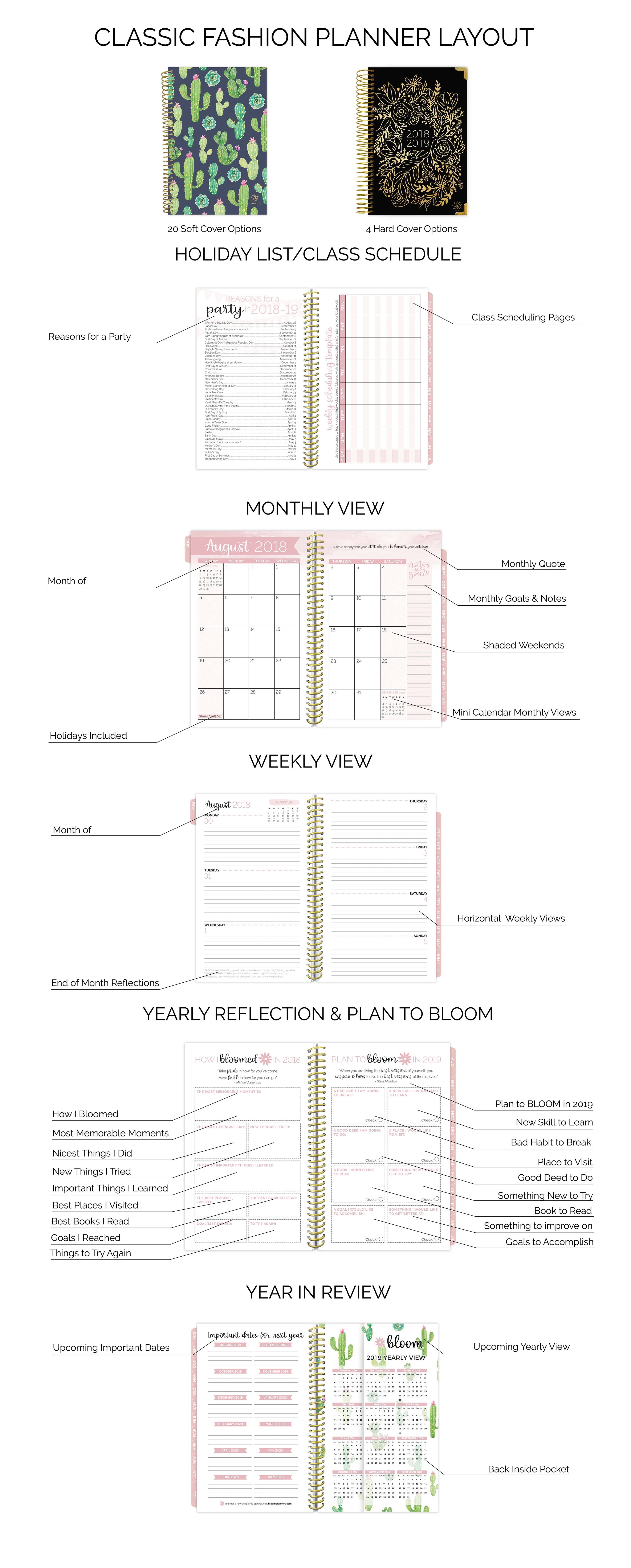 academic planners by bloom daily planners