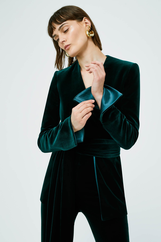Galvan London Velvet Green Jacket