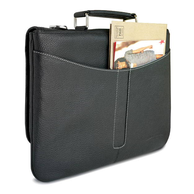 rear view of the ipad pro 12.9 leather briefcase