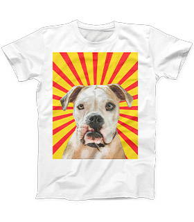 dog pop art mens crew shirt