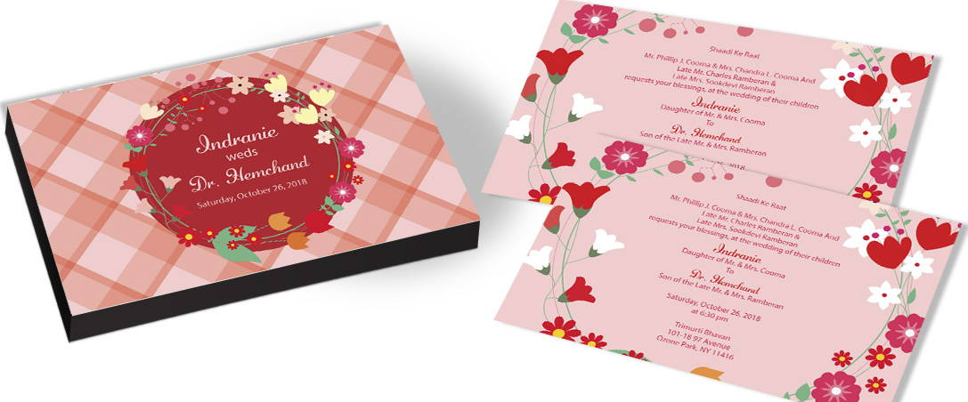 Big Flower invitation for Floral theme Wedding