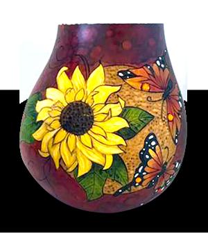 Gourd art by Susan Sweder