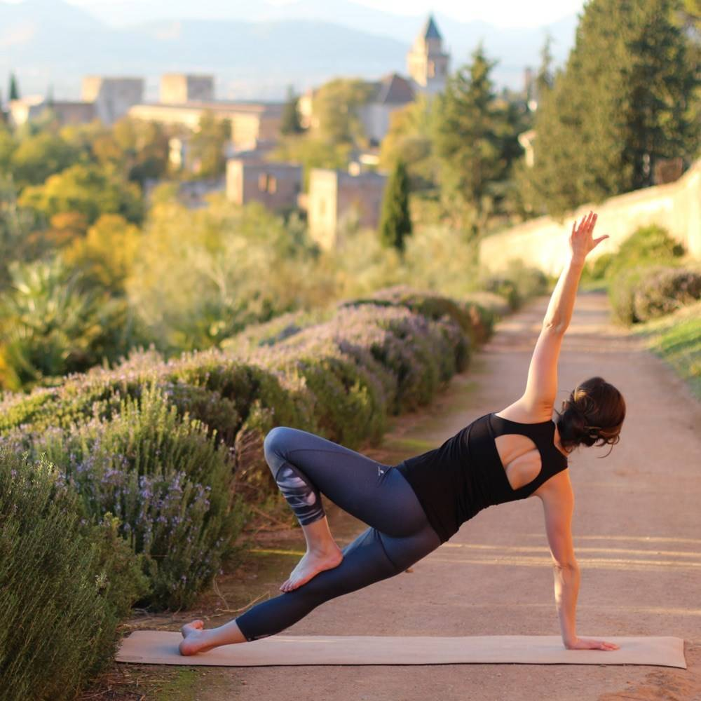 alhambra outdoor yoga