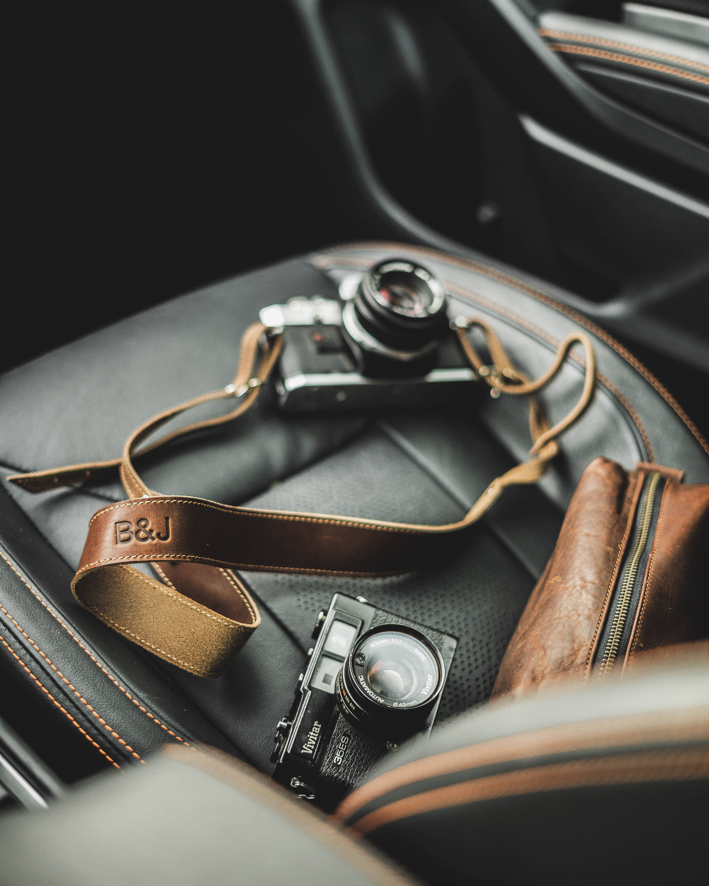 travel camera strap in horween leather