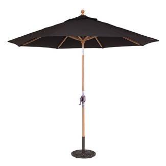 Galtech 9' Teak Rotational Tilt Round Umbrella