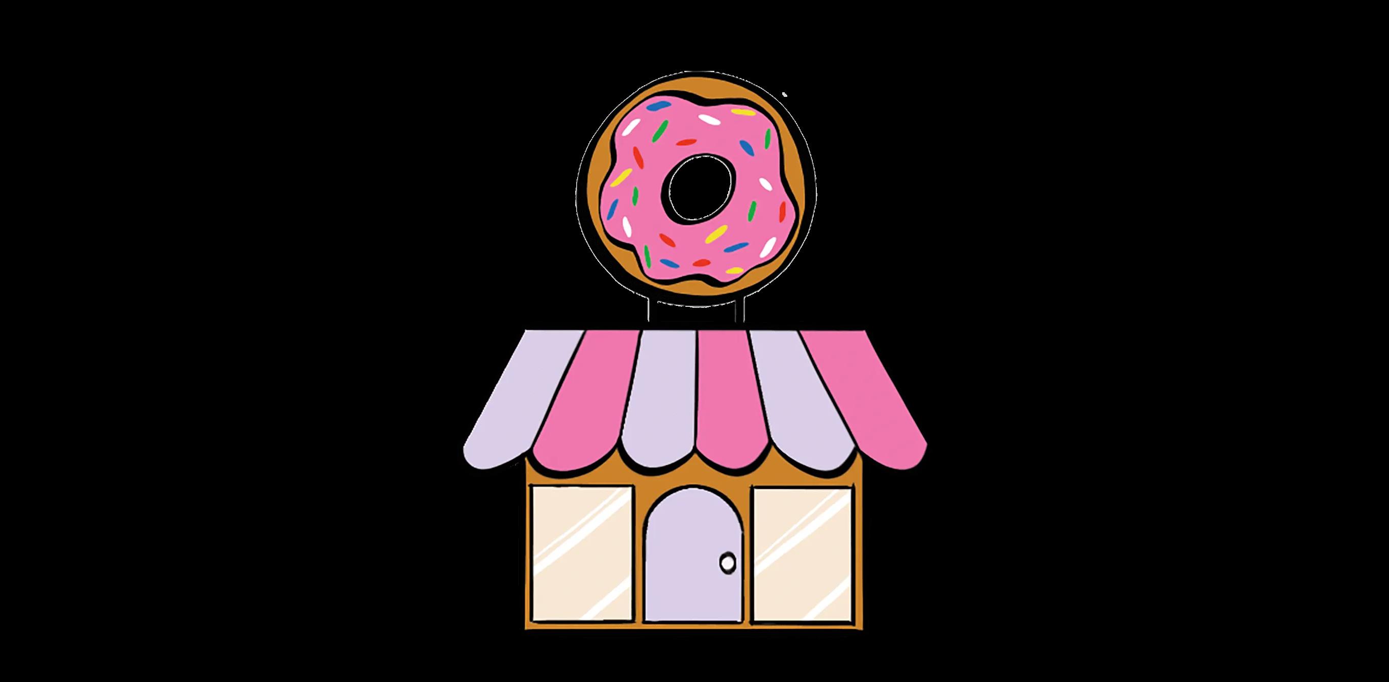 illustrated doughnut shop