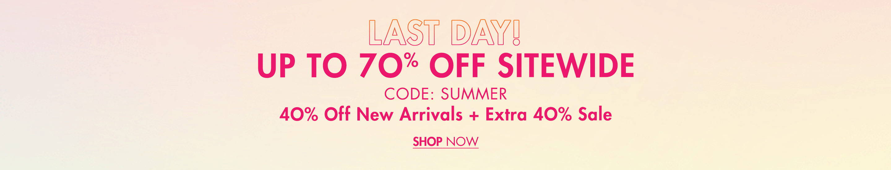 Summer Forward 40% Off