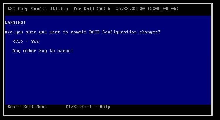 Dell PERC 6iR Array Configuration Guide – TechMikeNY