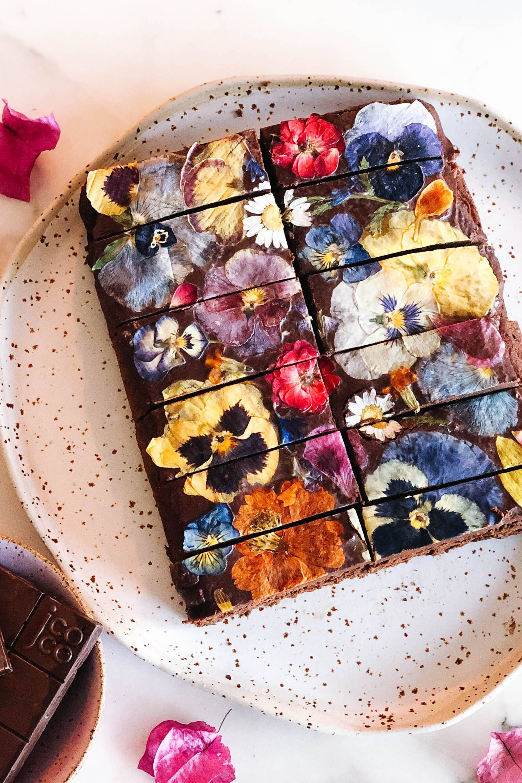 mango plantain chocolate brownie