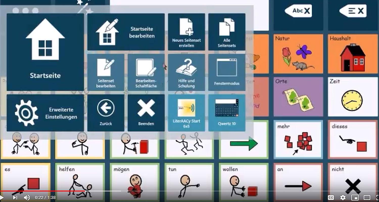 Screenshot eines Webinars über die UK-Software Communicator 5