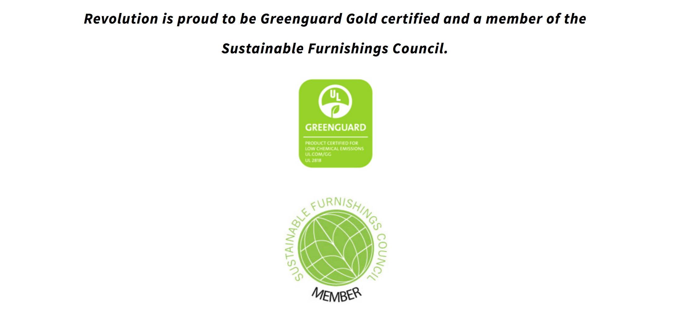 Greenguard certified fabrics
