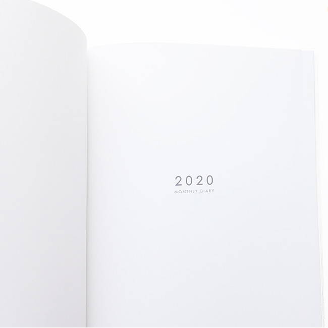 Intro - O-CHECK 2020 Linen paper A4 dated monthly diary planner