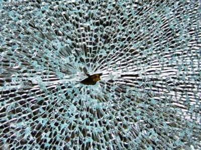 Broken glass on bong