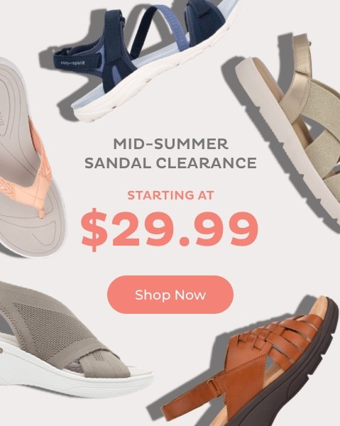 Mid-Summer Sandal Clearance Starting at $29.99