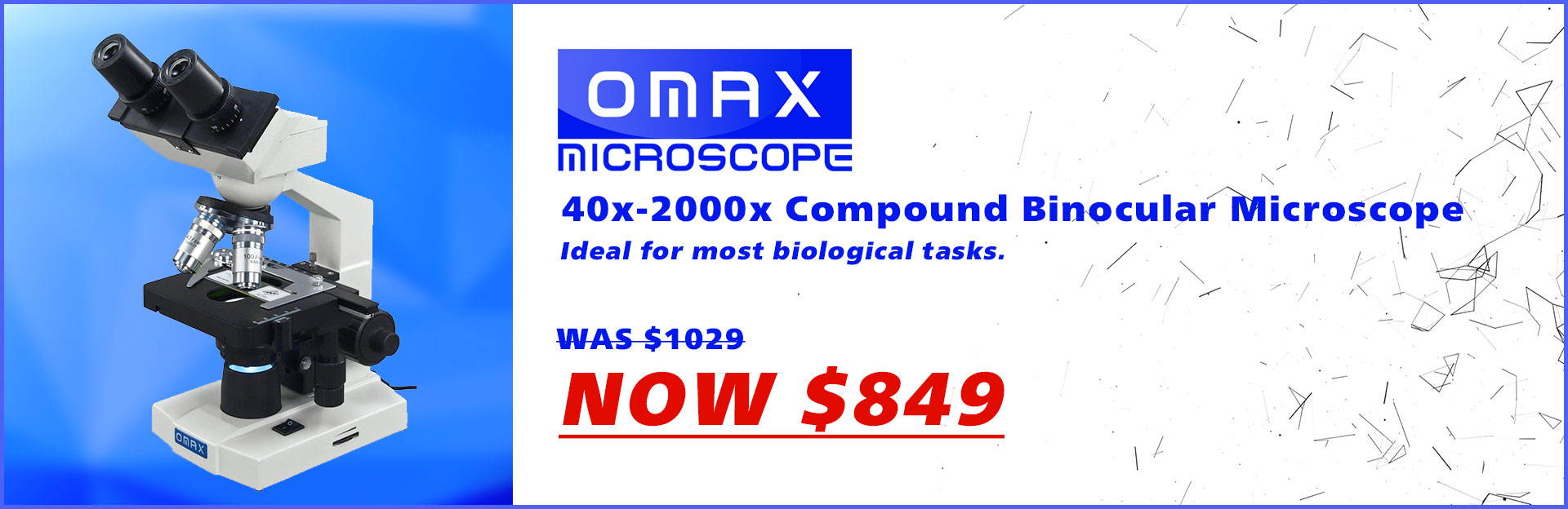 Omax binocular compound microscope