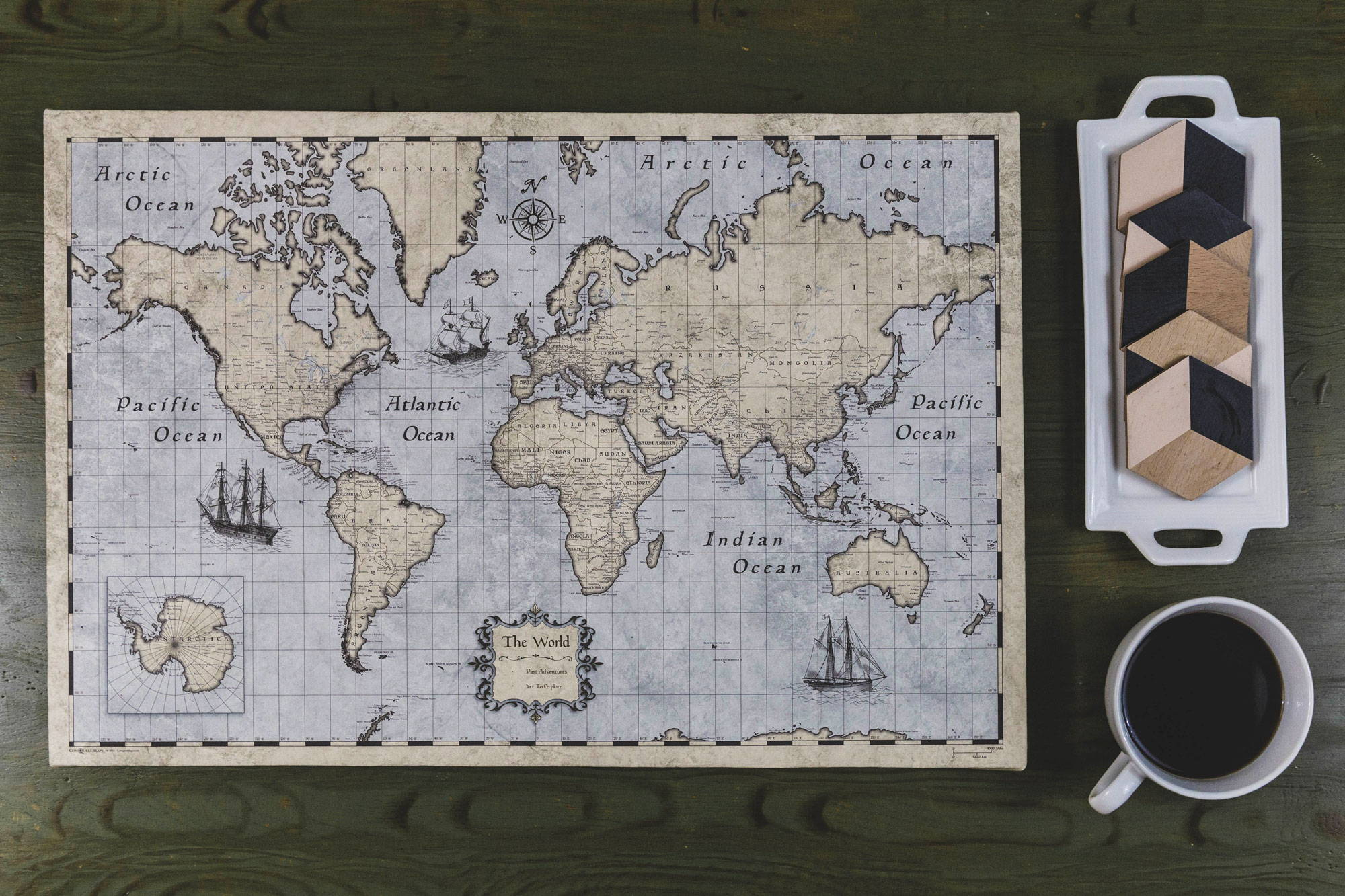 Conquest Maps Rustic Vintage
