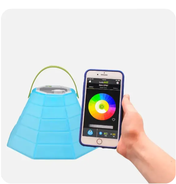 Bloomio Gem controlled by Bluetooth app.