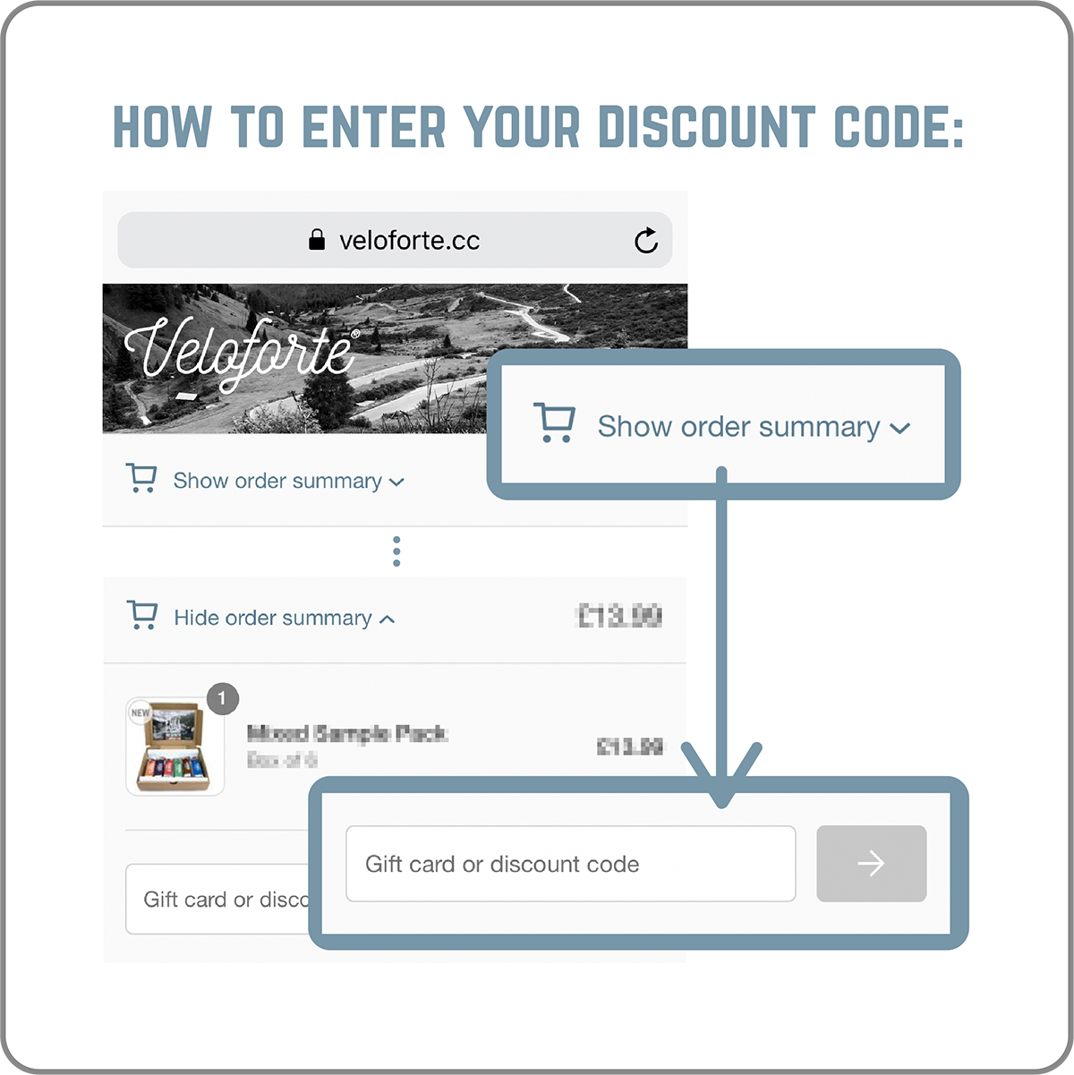 How to enter your discount code