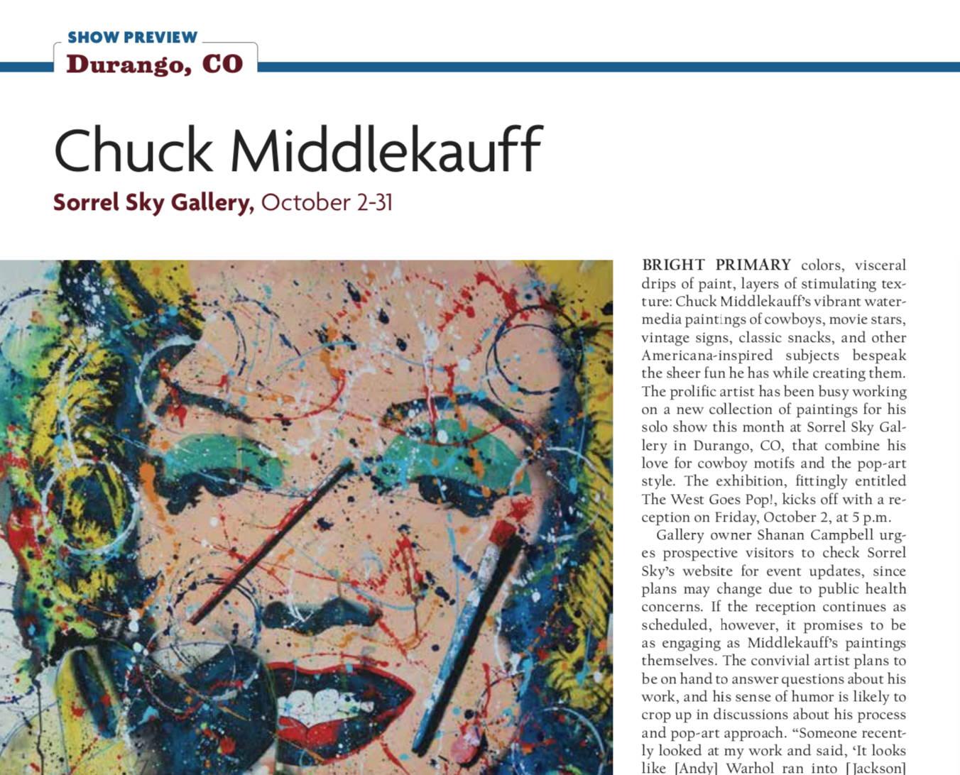 chuck middlekauff pop art western sorrel sky gallery