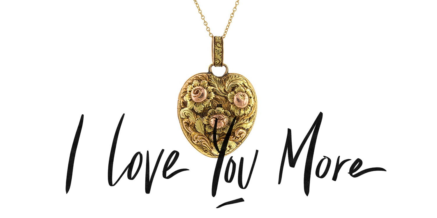 I love you more jewelry
