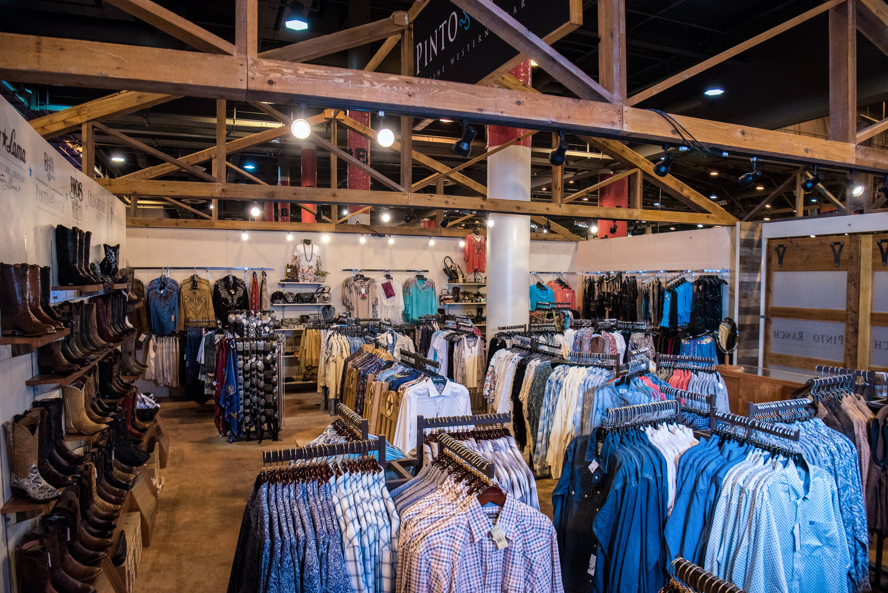 Men's western wear and handmade leather cowboy boots at the Houston Rodeo 2019