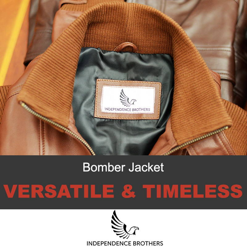 A bomber leather jacket