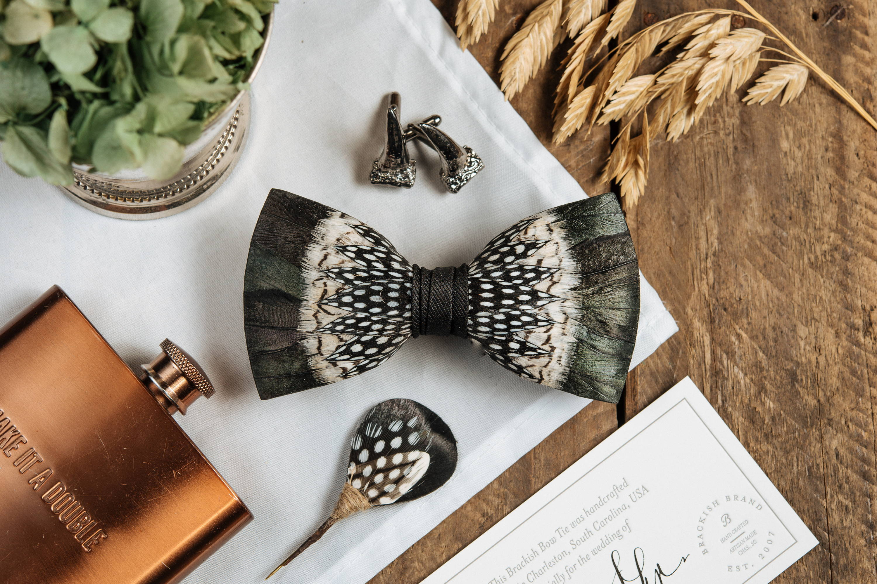 8308f040d814 Years ago, a groom wanted to create the perfect thoughtful gift for his  groomsmen, thus creating the first ever Brackish bow tie.