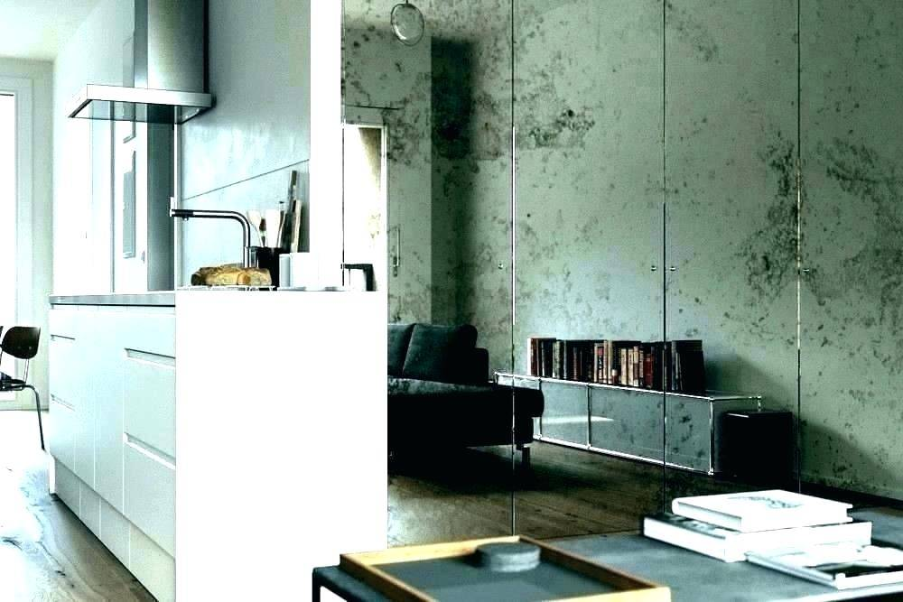 Distressed mirrored walls