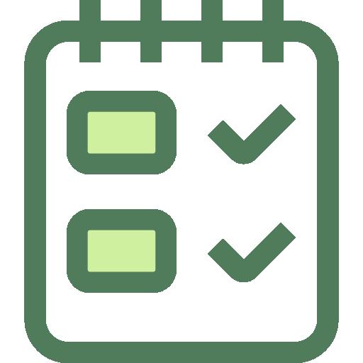 kontrolle protokoll icon symbol
