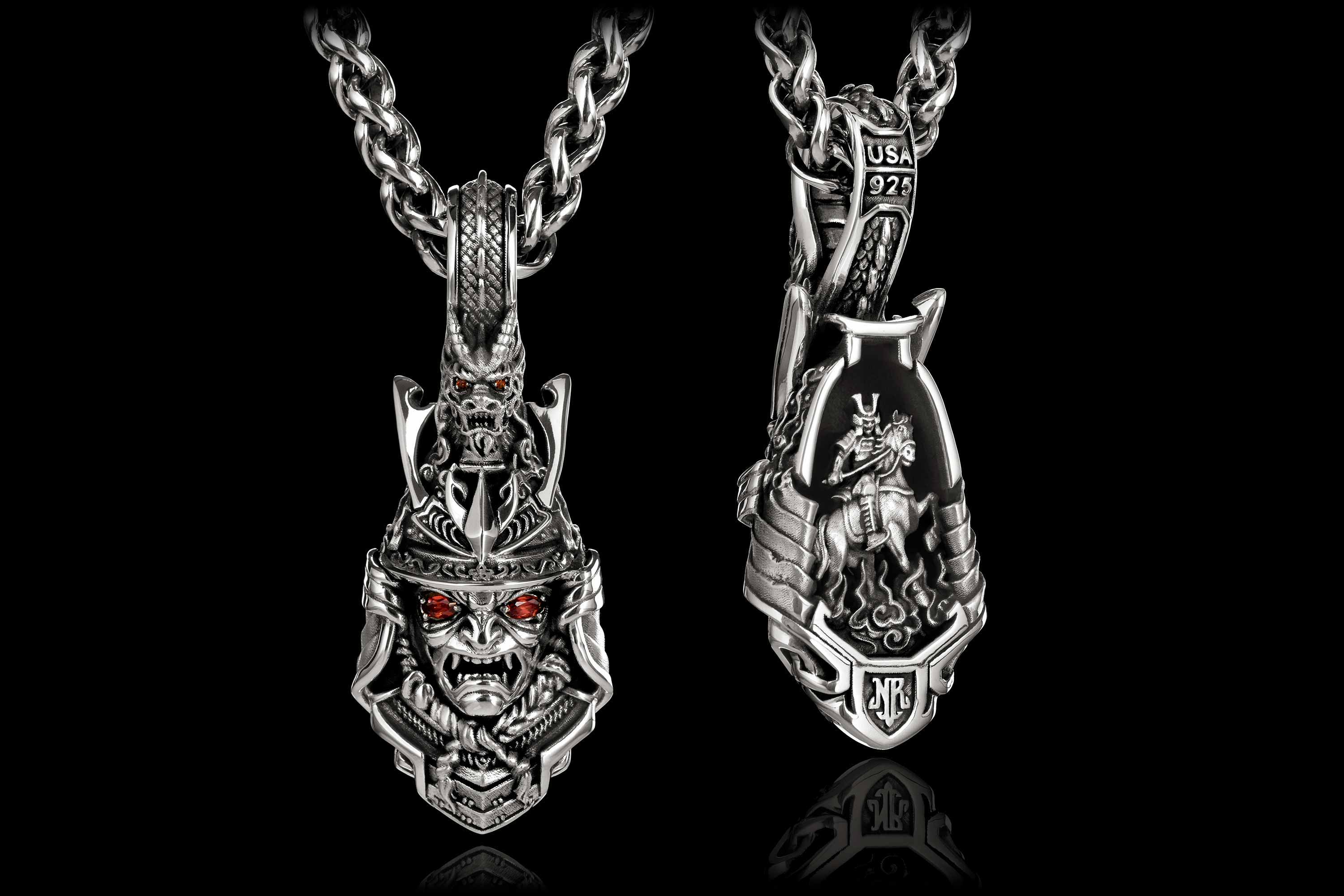 Bushido Pendant Front & Back by NightRider Jewelry