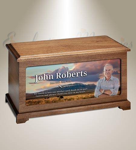 Rocky Mountains Photo Burial Urn