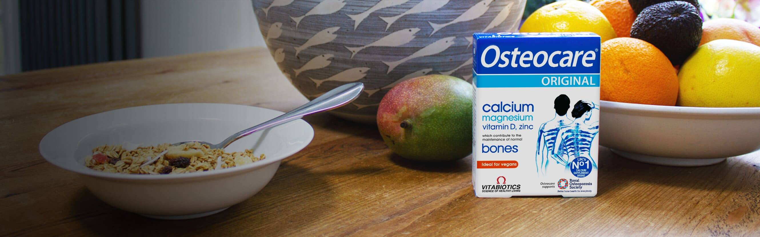 We all count on Calcium for bone health – but that's just the start. Osteocare Original combines Calcium with important co-factors like Vitamin D and Magnesium, which contribute to the maintenance of normal bones. It's expert nutritional support that goes beyond your bones.