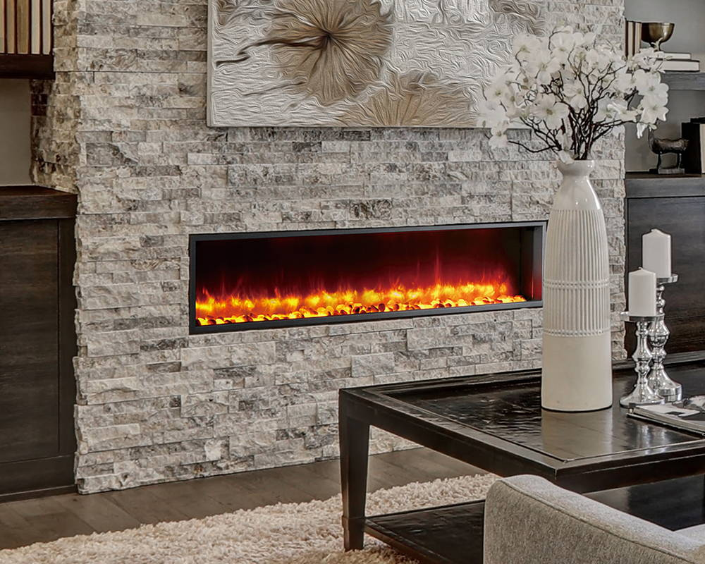 Dynasty Fireplaces | Natural Stone Mantels | Electric Fireplaces
