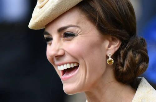 Kate Middleton wearing Citrine earrings