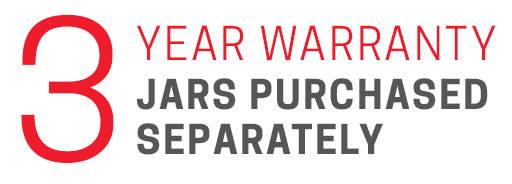 3 Year Jar Warranty (purchased separately)