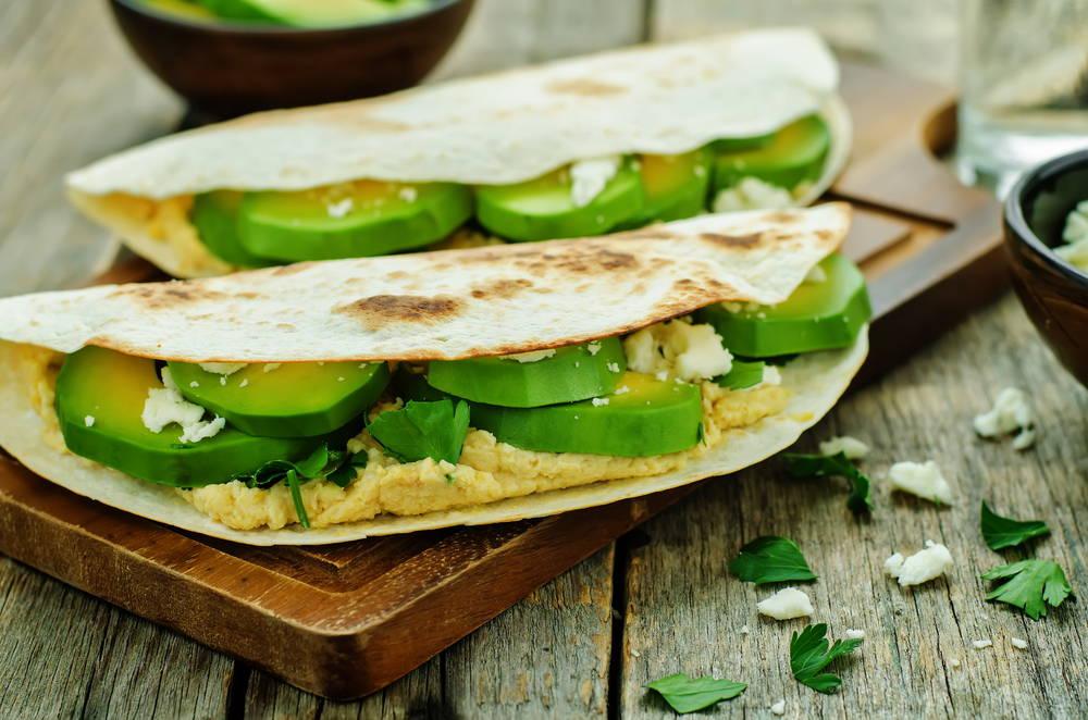 vegan hummus tortilla
