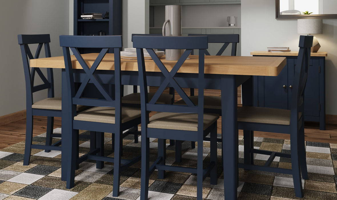 Blue Painted & Oak Furniture