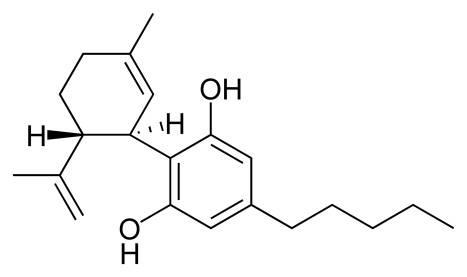 CBD Strukturformel Cannabidiol Cannabis