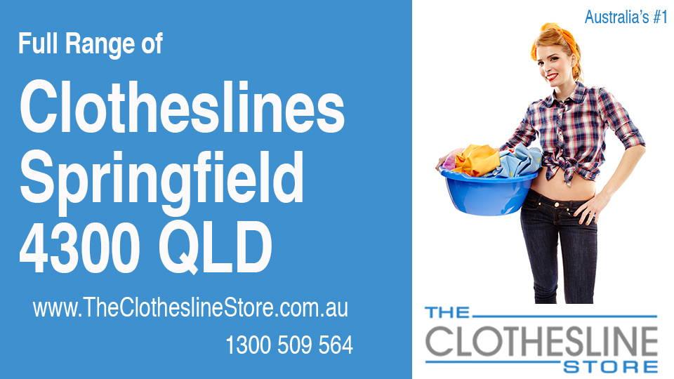New Clotheslines in Springfield Queensland 4300