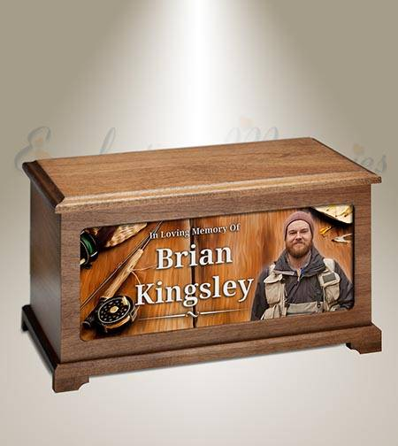 Fly Fishing Funeral Photo Urn