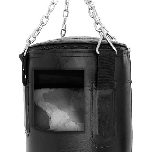 SMAI Triple Black Punching Bag Rag Filled