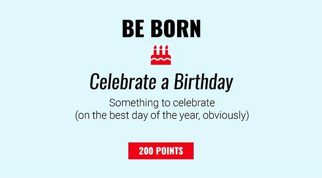 Celebrate a Birthday - 200 Points