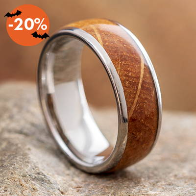 Whiskey barrel wood ring