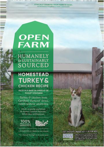Homestead Turkey & Chicken Dry Cat Food | Open Farm