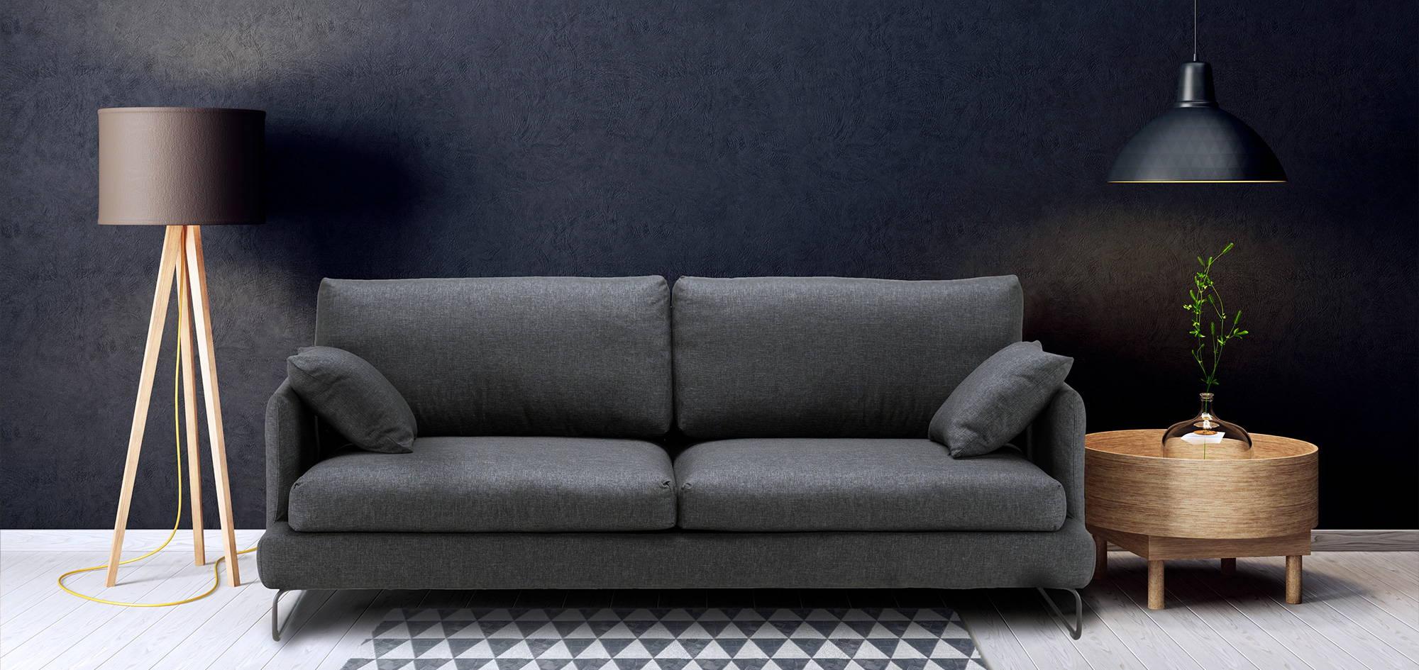 Como-sohva, musta kangas. HT Collection
