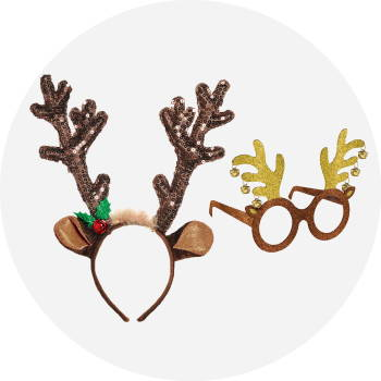 Christmas headbands and glasses category