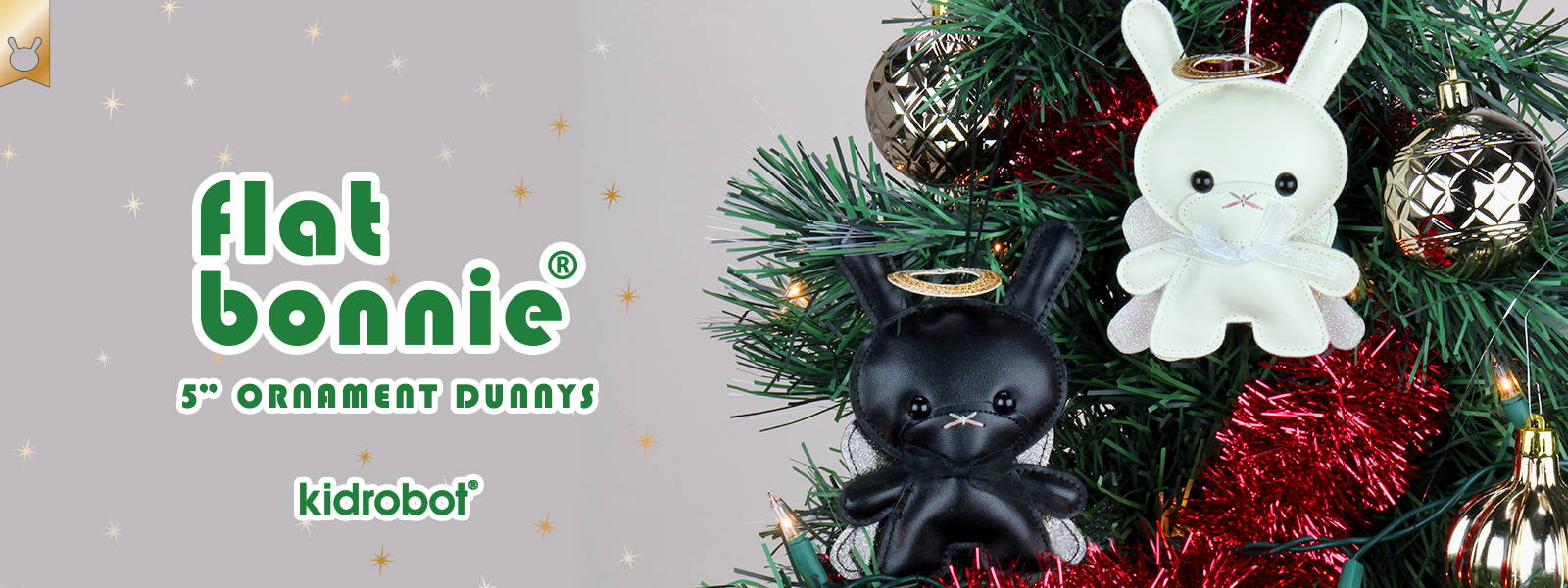 2020 Holiday Dunnys - Flat Bonnie Plush Ornament Dunny